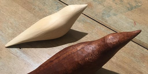 Bird Whittling at the Cottage Studio