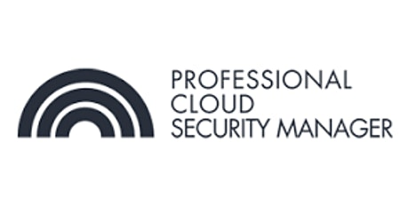 CCC-Professional Cloud Security Manager 3 Days Virtual Live Training in Toronto tickets