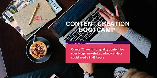 Content Creation Bootcamp VIRTUAL - March 2020
