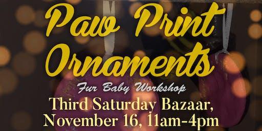 Paw Prints Ornaments