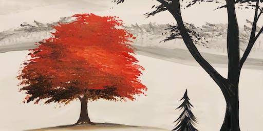The Fire Maple Paint & Sip @ Apricity Vineyard