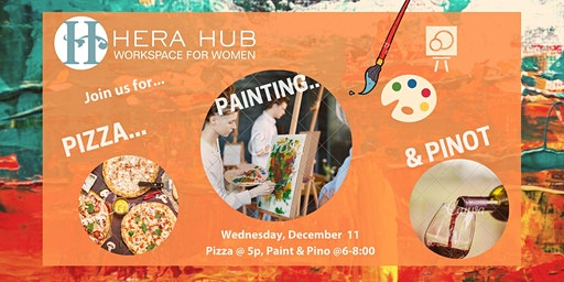 Pizza, Paint, and Sip Night