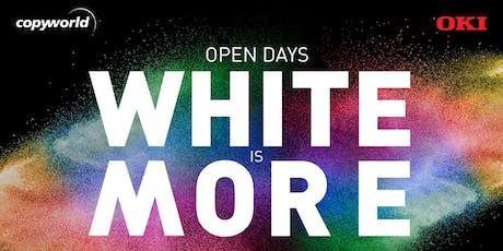 """Open Days """"White is more"""" biglietti"""
