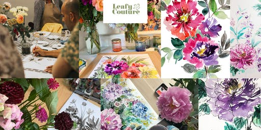 Floral Painting Workshop using  Watercolour Inks
