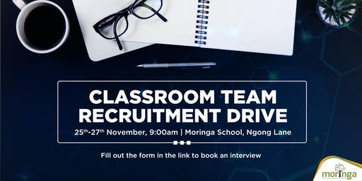 MORINGA SCHOOL TECHNICAL MENTOR RECRUITMENT DRIVE