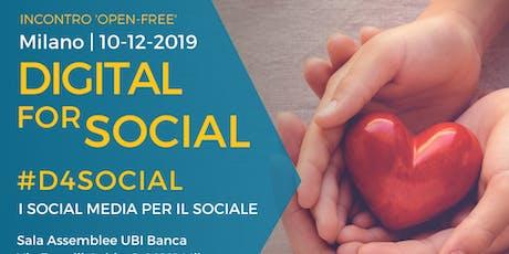 Evento Free Open #D4Social - Digital for Social: il digitale per il sociale biglietti