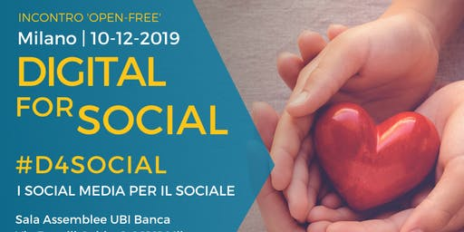 Evento Free Open #D4Social - Digital for Social: il digitale per il sociale