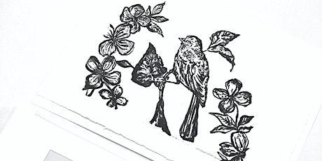 Painterly mono-type printing workshop tickets