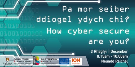 Pa mor seiber ddiogel ydych chi? // How cyber secure are you? tickets