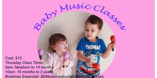 Baby Music Classes (15 month to 3 year old)