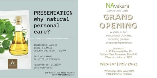 Navakara Grand Opening  - Why Natural Personal Care