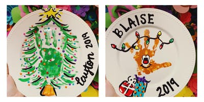Kids Hand Print Plates