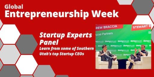 Global Entrepreneurship Week: Startup Experts Panel