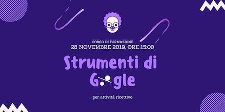 Strumenti di Google per attività ricettive - Corso ABBAV biglietti