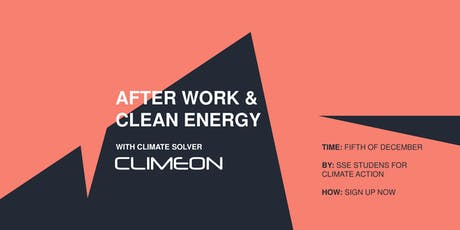 After Work with Climate Solver Climeon tickets
