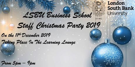 LSBU Business School Staff Christmas Party tickets