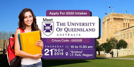 Meet & Apply to The University of Queensland, Australia - 21st Nov 19