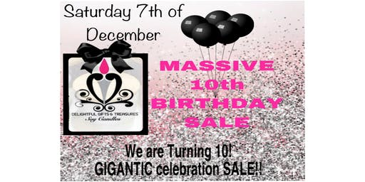 DG&T Luxury Soy Candles  - MASSIVE 10th Birthday Sale