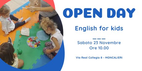 OPEN DAY - ENGLISH COURSES FOR KIDS! biglietti