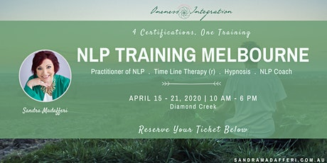 NLP Training Melbourne :  4 Certifications - One Training tickets