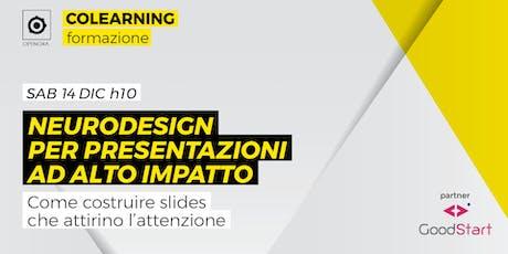 Presentazioni ad alto impatto con il neuro design biglietti