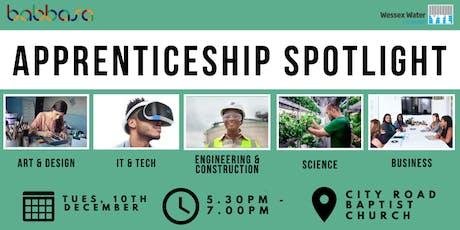 Apprenticeship Spotlight  tickets