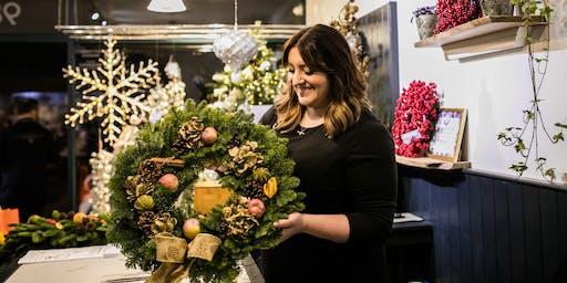 Festive Wreath Making Workshop & Afternoon Tea At Eleven Didsbury Park