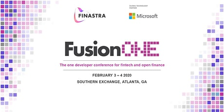 FusionONE - fintech & open banking developer conference tickets