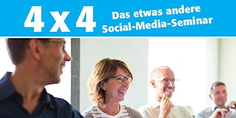 """""""4x4"""" – das etwas andere Social Media Seminar Tickets"""