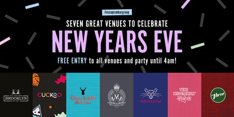 Celebrate NYE 2019 at seven bars with free entry, bubbles & pizza! tickets