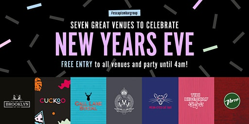 Celebrate NYE 2019 at seven bars with free entry, bubbles & pizza!