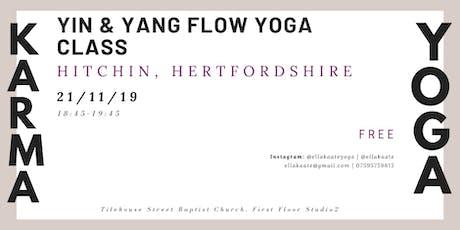 Karma Yoga: Yin & Yang flow tickets