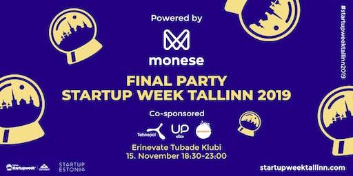 Final Party of Startup Week Tallinn 2019