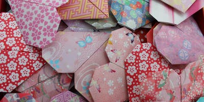 Origami heart bunting