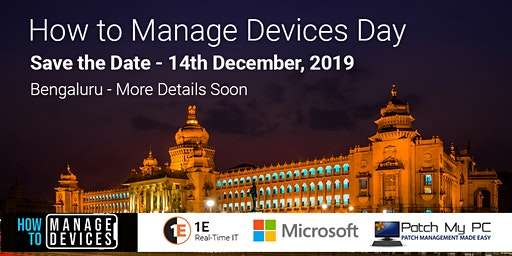 How to Manage Devices Day SCCM Intune Device Management Day