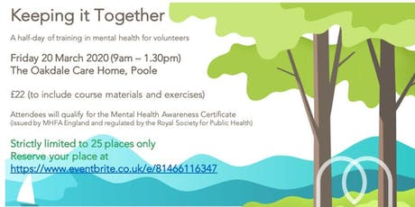 Keeping it Together (Mental Health First Aid for Volunteers) tickets