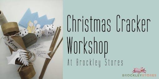 Christmas Cracker Making at Brockley Stores