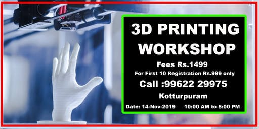 3D Printing Workshop One Day - Nexgen3D