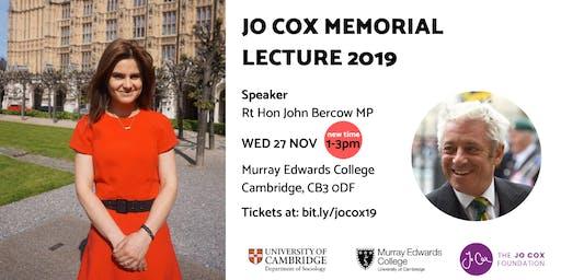 Jo Cox Memorial Lecture 2019