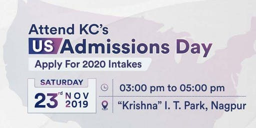 USA Admissions Day at KC Nagpur - 23rd Nov 2019 | Apply for 2020 intakes!