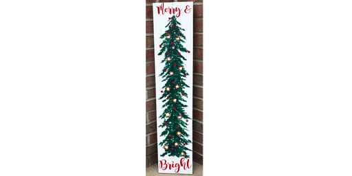 Tall Christmas Tree with Lights  - Creative Paint & Sip Maker Class