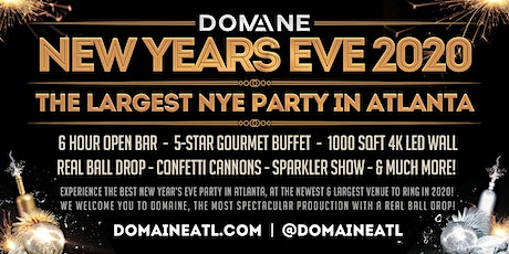 Domaine New Year's Eve 2020 on Tuesday, 12.31.2019 tickets