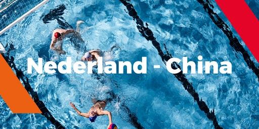 Waterpolo interland Nederland - China (heren)