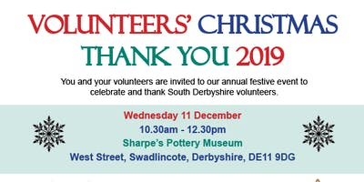 Volunteers' Christmas Thank You 2019