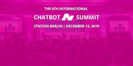 6th International Chatbot Summit - Berlin, December 13, 2019 - Workshops Tickets