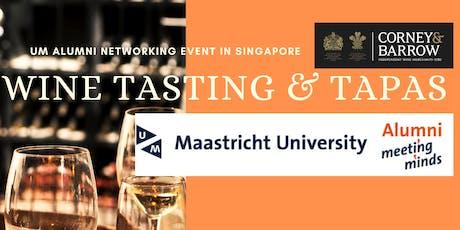 Wine Tasting and Tapas Maasticht University Alumni Singapore tickets