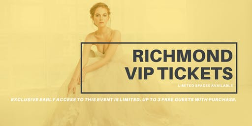 Opportunity Bridal VIP Early Access Richmond Pop Up Wedding Dress Sale