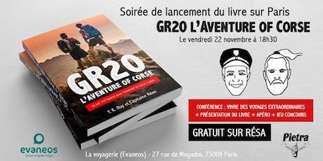 Soirée Paris : lancement du livre GR20 L'AVENTURE OF CORSE billets