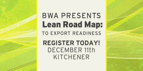 BWA Lean Road Map: To Export Readiness - Level 1 tickets
