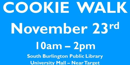 11/23 Friends of the Libary Cookie Walk